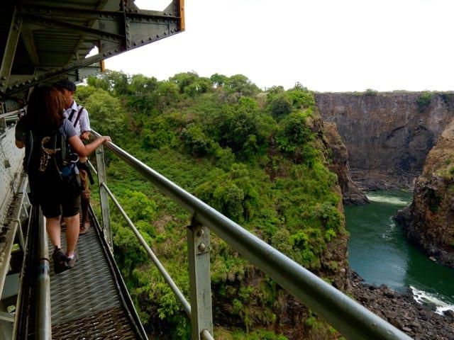 Bridge Tour over the Zambezi River near the Victoria Falls