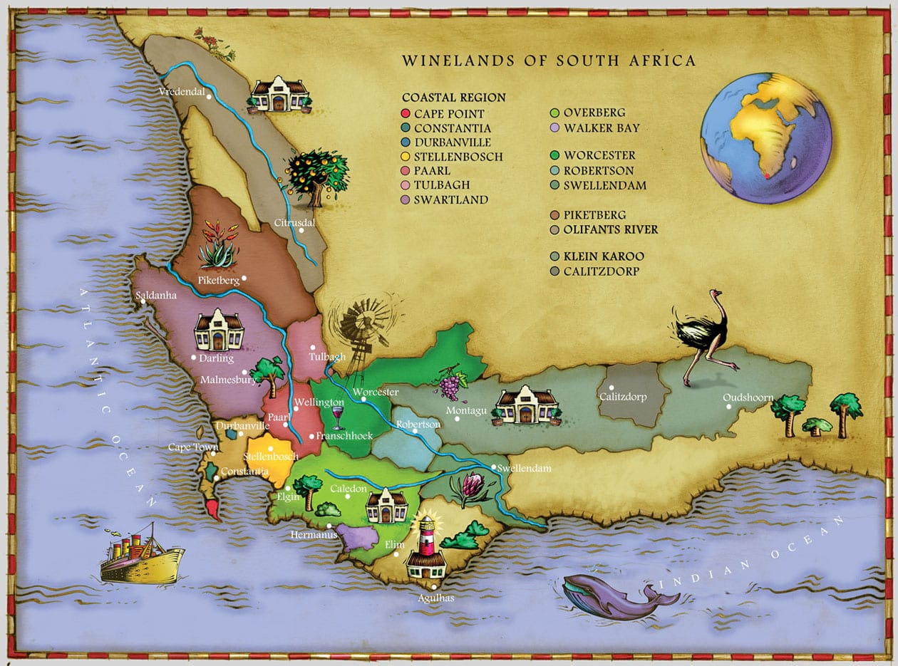Map Of Winelands South Africa Winelands of South Africa Part 1 : GetLocal Africa