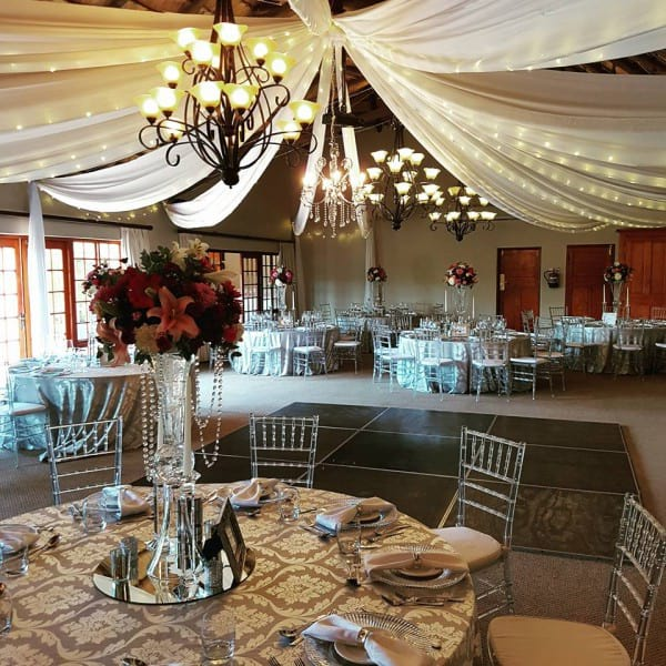 Dinning room wedding venue Granny Mouse KZN Midlands