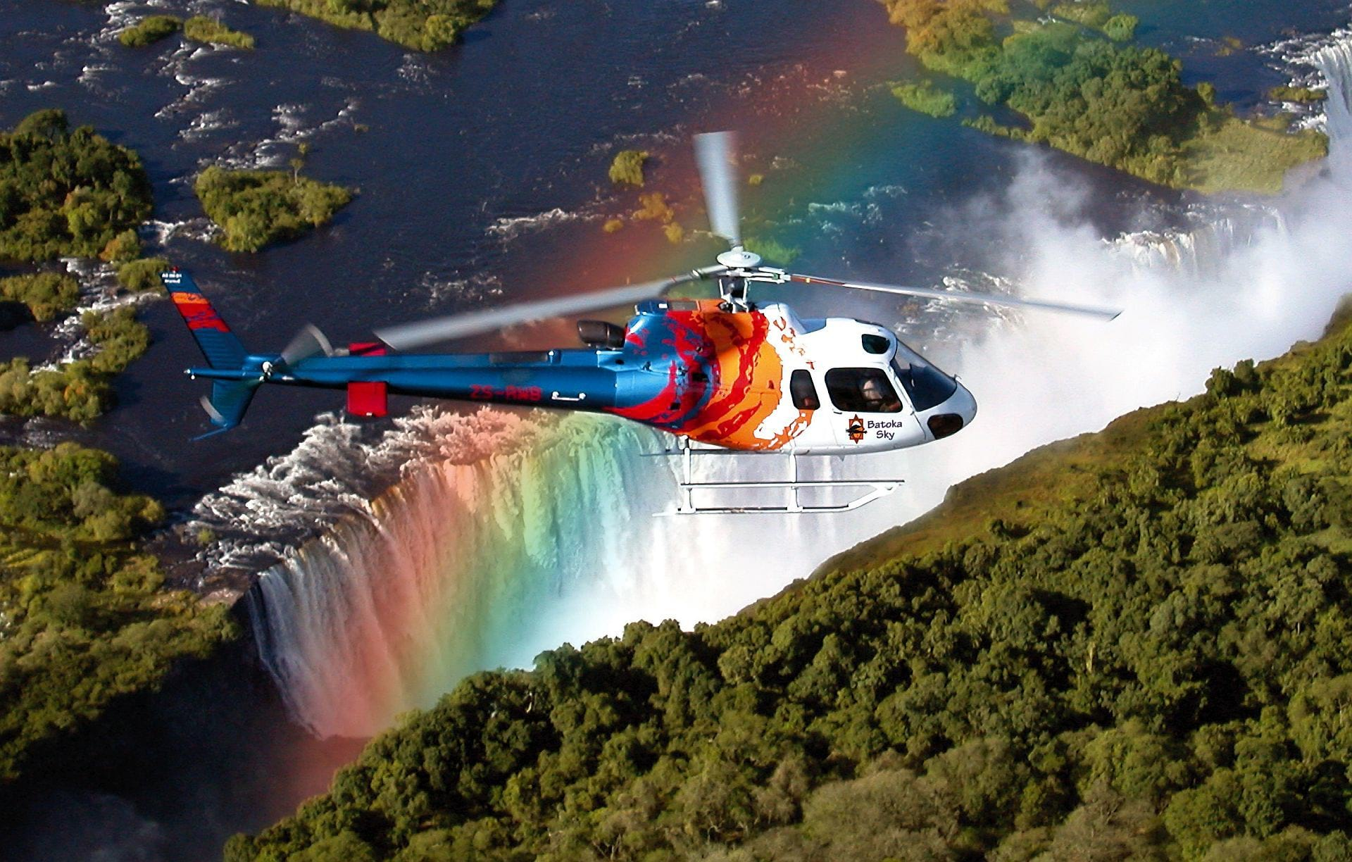 Helicopter Flight over the Falls