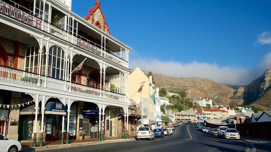 Street Scene of Historic Navel Town of Simonstown