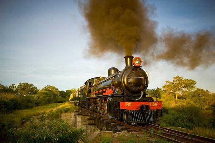 The Livingstone Express Crossing the Victoria Falls Bridge