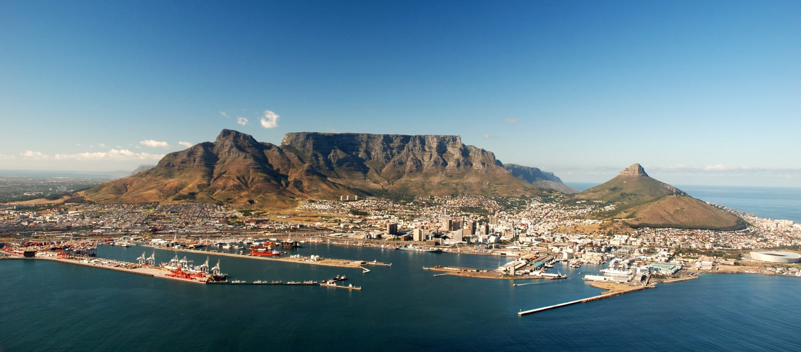 Aerial View of Cape Town Harbour